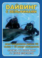 Банер дельфинарий НЕМО г. Анапа